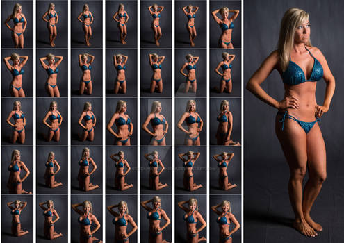 Stock: Sarah Fitness Bikini Poses - 35 Images