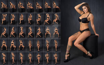 Stock: Rebecca Glam Sitting Poses - 35 Images