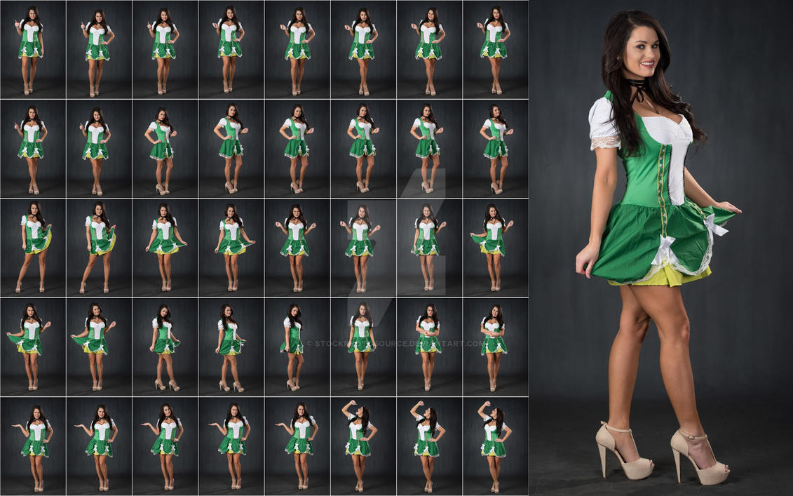 Stock: Rebecca St Patrick's Day Poses - 40 Images by stockphotosource