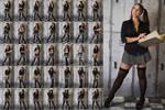 Stock: Julia School Girl Standing - 35 Images