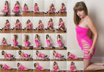 Stock: Corrine Pink Floor Poses - 28 Images