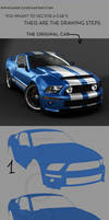 Ford Mustang drawing steps