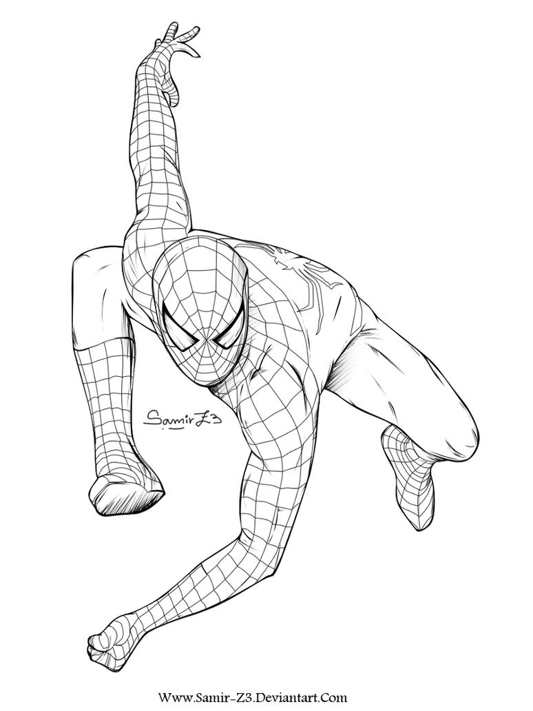 Spiderman Face Line Drawing : Spider man by samir z on deviantart
