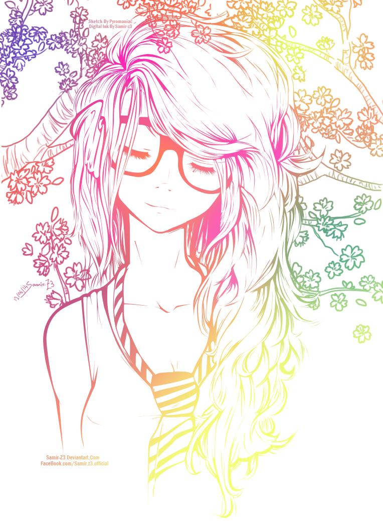 anime cute colorful girl - photo #21