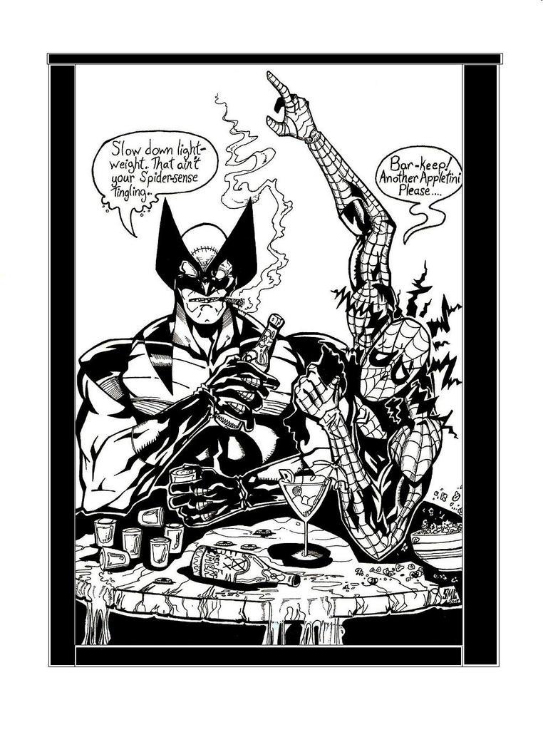 Wolverine Vs Spiderman by Medic-911