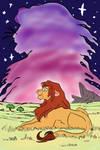 Lion king paint along