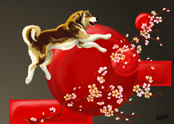 Akita Decor Japonais Japan By Laetitb Design On Deviantart