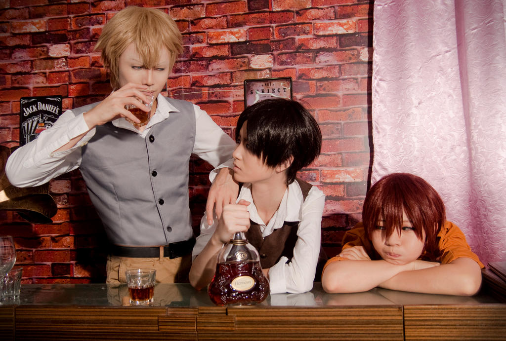 Chilling in a Bar (SnK: A Choice with No Regrets) by captamzai