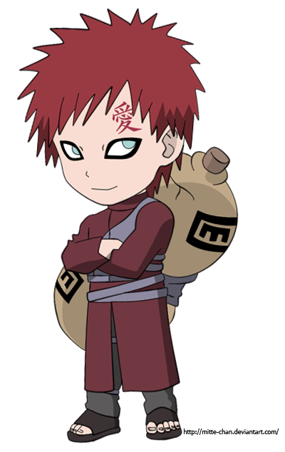 Gaara shippuden chibi by Mitte-chan on DeviantArt Gaara And Naruto Chibi