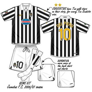 Juventus 2006-2007 Home by DaShiR