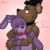 Freddy x Bonnie ( Fronnie ) by froggsalt