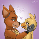 Foxy and Chica ( Choxy/ Foxica )