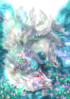 9-tails wolf by roudrasagi