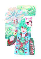 kitsune - 1st tshirt design by roudrasagi