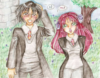 Lily and James Chatting by james-potter