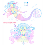 adopt for sale: Coral Mermaid (CLOSED)