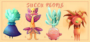 (1/4) Succu People Batch 1 | PAYPAL AUCTION [OPEN] by CharonsChildren