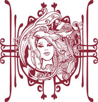 Another Art Nouveau Face by lightsofreason