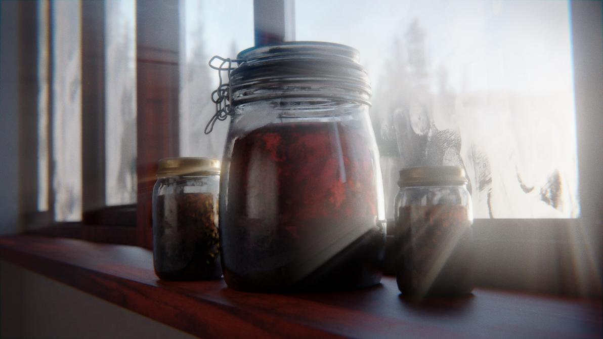 Jars at the morning by Skarabus