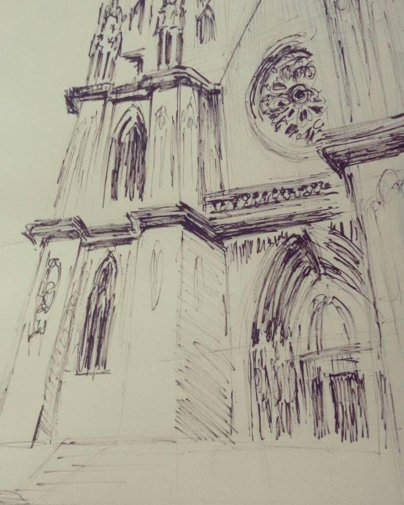 Se's Cathedral in Sao Paulo, Brazil by gilmarinho