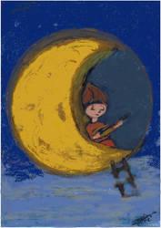 Maja chante  la Lune DP