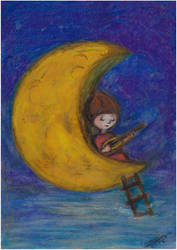Maja chante  la Lune brut