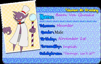 PKMNOcCrossing: Baron Von Ghoulie