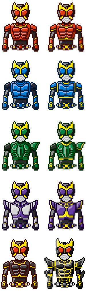 Kamen Rider Kuuga Pixels by Rivux