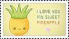 Stamp: I love you Pineapple