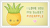 Stamp: I love you Pineapple by apparate