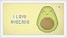 Stamp: I love Avocado by apparate