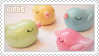 Stamp: Birds by apparate