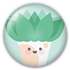 Button/Badge: Plant by apparate