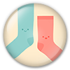 Button/Badge: Socks by apparate