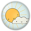 Button/Badge: Sun and Cloud by apparate
