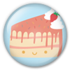 Button/Badge: Cake by apparate