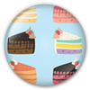 Button/Badge: Cake Slices by apparate