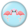 Button/Badge: Flamingos by apparate