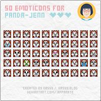 Emoticons: panda-jenn