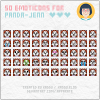 Emoticons: panda-jenn by apparate