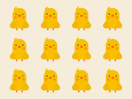 Cute Kawaii Chicks by apparate