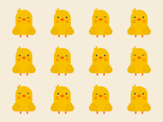 Cute Kawaii Chicks by apparate