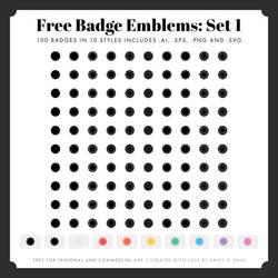 Free Badge Emblem Patches: Set 1