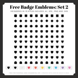 Free Badge Emblem Patches: Set 2