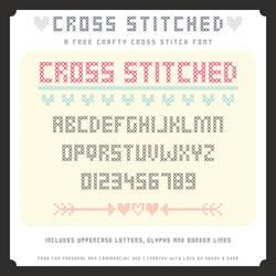 Cross Stitched - A free crafty cross stitch font