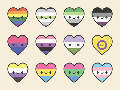 Pride Hearts