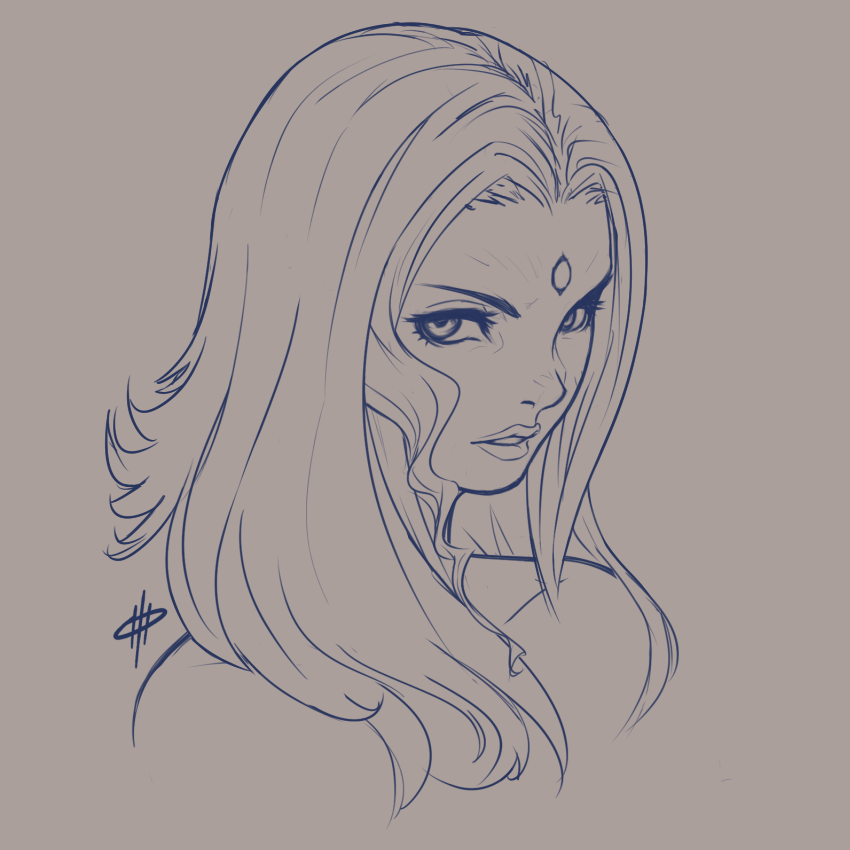Whiskey Rose Bust Sketch by Obsy-3