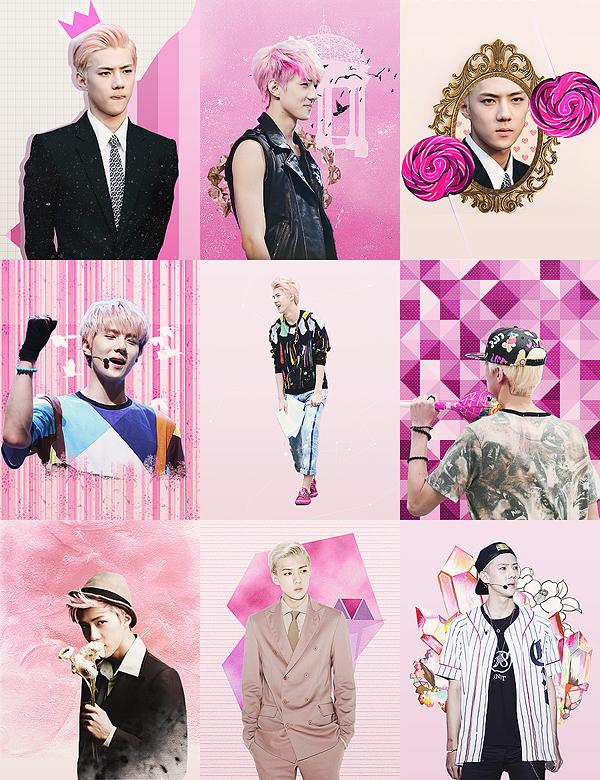 Pink Sehun by ajikaji
