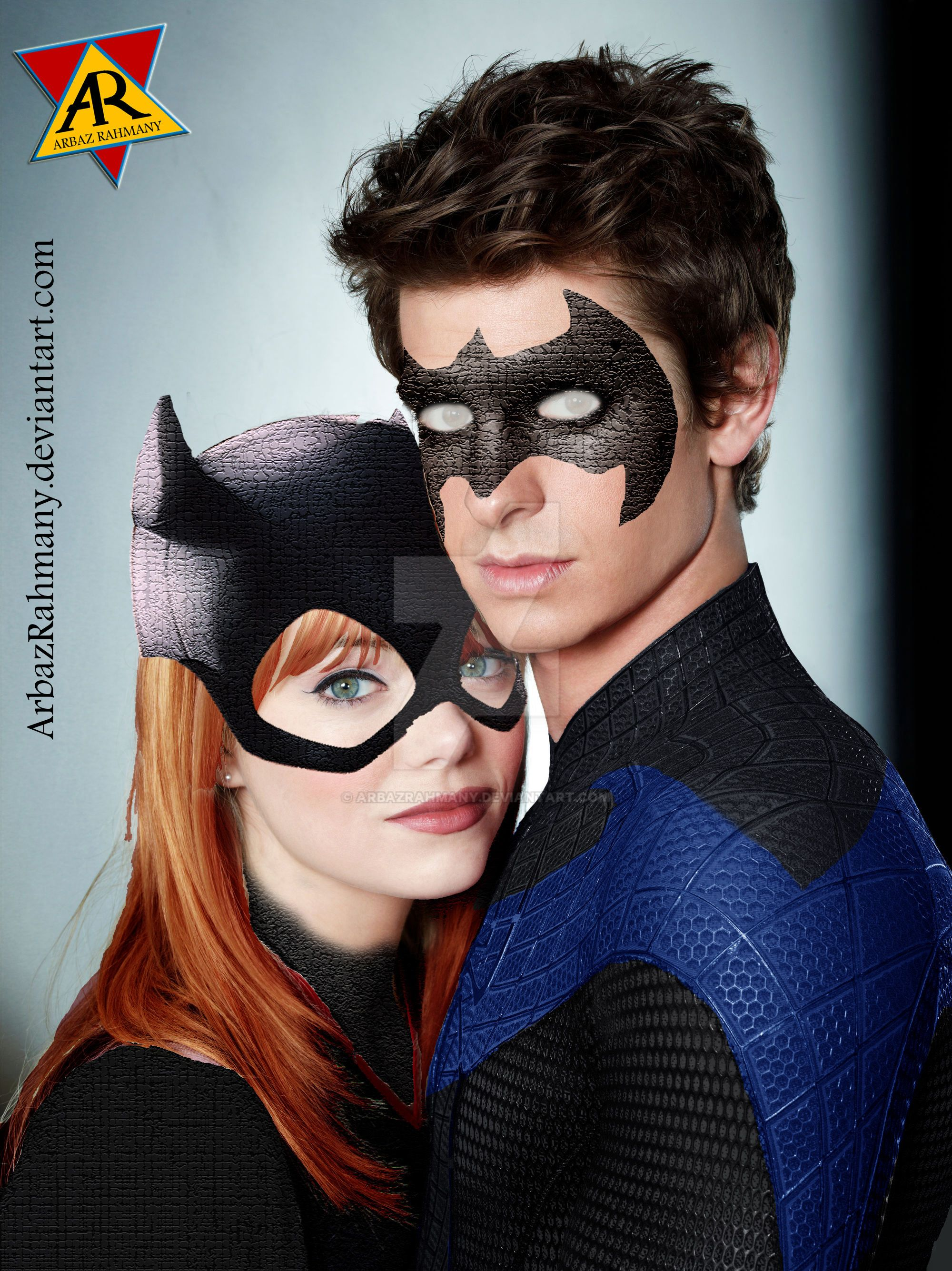 Andrew n Emma as Nightwing and Batgirl by arbazrahmany on DeviantArt
