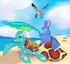 Hitting Up the Beach - With Fronds Like These